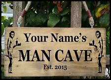 PERSONALISED NAME BANKSY SIGN MAN CAVE GRAFFITI Shed Door Sign Plaque Plate Gift