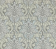 Victorian vinyl Wallpaper double roll damask tan gray textured wallcovering 3d