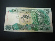 MALAYSIA 6TH $5 WITH CROSS NQ6249391 VF
