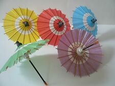 Set of 5 Japanese Hand-made Kasa Multi-Color Mini Umbrella Paper Parasol Deco