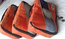 3 Piezas Cubos Organizadores de embalaje ligero naranja grande para bolsas y maletas