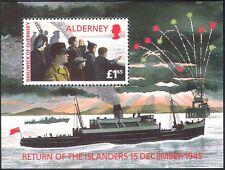 Alderney 1995 Ships/Boats/People/Fireworks/WWII/War/Peace/Transport 1v m/s b6175