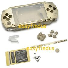 PSP 1000 Full Housing Shell Case repair parts umd door sticker button gold New