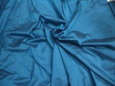 """TURQUOISE POLYESTER SOLID SHANTUNG / DUPIONI SILK FABRIC  57"""" WIDE BY 1 METER"""