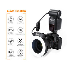K&F Concept KF-150  i-TTL Macro Ring Flash Speedlite for Nikon 4 Adapter Rings