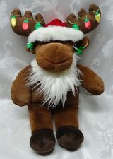 """Christmas Embroidered Lights Works BAB Hal Moose Build a Bear 18"""" Ornaments Plus"""
