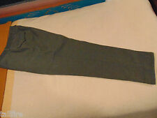 HEAVY WOOL MILITARY SURPLUS 4 POCKET PANTS MENS 32X30 BUTTON FLY 1 PLEAT EUC