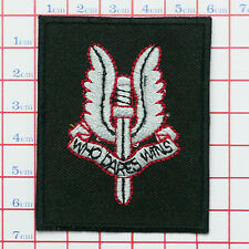 "British Special Air Service ""SAS"" Army BERET PATCH- Iron-On, NEW, UK, Free Post"