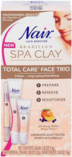 2x Nair Brazilian Spa Clay Total Care Face Trio, 1.35 Oz each