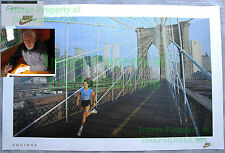 NITF Vintage NIKE Running Poster ¤ WTC ¤ Equinox ¤ Brookly Bridge ¤ NYC SIGNED!!