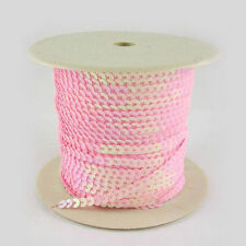 1Roll Paillette/Sequin Roll Pink AB Color 6mm in diameter 100 yards/roll