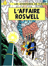 HOMMAGE A HERGE TINTIN L'AFFAIRE ROSWELL ALBUM EN COULEURS