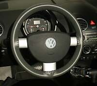 VW Leather Steering Wheel Cover Wheelskins - Custom Fit - You Pick the Color