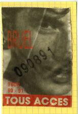 PATRICK BRUEL - backstage pass