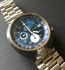 Omega Speedster Mark III 176.002  Cal 1040  - 1162 Bracelet - Gorgeous Blue Dial