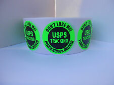 USPS Tracking Don't Lose Me! Please Scan & Deliver circle label fluor grn 500/rl