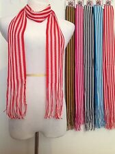 Wholesale 12 LOT Polyester Shawl Long Scarf Stole Wrap Women scarves stripes