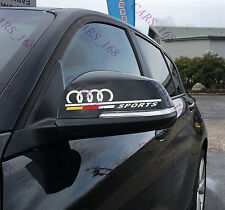 ☆New☆ A Pair Amazing Rearview Mirror Car stickers Decals Graphic For Audi(White)