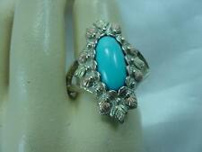 BLACK HILLS GOLD & STERLING SILVER COLEMAN CO TURQUOISE ESTATE RING     #1605