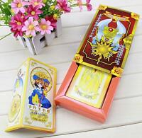 NEW Cardcaptor Sakura 52 cards with boxes Captor Sakura Clow Cards Cosplay N
