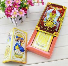 NEW Cardcaptor Sakura 52 cards with boxes Captor Sakura Clow Cards Cosplay U