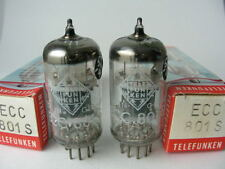 2 selected Tubes ecc801s Telefunken    diamond triple mica nos nib