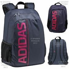 ADIDAS NAVY BLUE & PINK WOMENS / GIRLS BACKPACK RUCKSACK SCHOOL BAG LADIES MESH