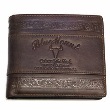 Vintage Mens Leather Wallets Credit Card Holder ID Photos Retro Cowboy Style
