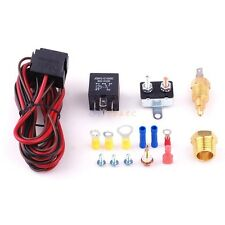 185-200 D Car Engine Cooling Fan Thermostat Temperature Switch Sensor Relay Kit