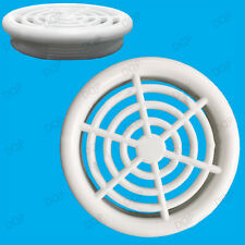 2x White Vivarium Reptile Push Fit Round 48mm Air Vents, 34mm Hole, Ventilation