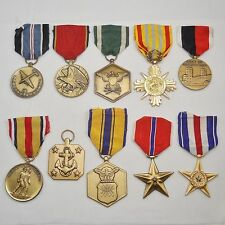 Small collection, job lot of 10 US United States medals, lot 1