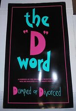 "The ""D"" Word Dumped or Divorced Board Game/Coloring Book by Let's Play Games NEW"