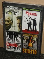 The Contract / 24 Hours in London / Crime Spree / Stiletto (DVD) BRAND NEW!