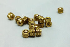 M4 4mm M4-0.7 Brass Threaded Heat Set Inserts for 3D Printing Bolts Screws Metal