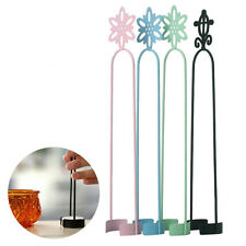 Metal Wrought Iron Black Pillar Candle Holder Decor Candlestick Ornaments Tool k