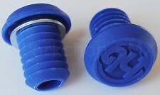 Hoffman BMX bicycle nylon handlebar grips push-in bar ends end plugs - BLUE