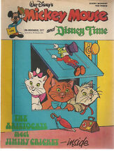 MICKEY MOUSE & DISNEY TIMES #109 U.K. comic November 19th 1977 Aristocats