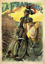 La Francaise Bicycle vintage ad style poster print