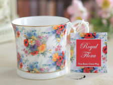 ROYAL FLORA Fine Bone China FOOTED PALACE MUG