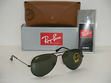 NEW Ray Ban Aviator RB LARGE 3026 L2821 Black frame & Black Lens SUNGLASSES 62