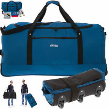 Trolley SOUTHWEST LIGHT WEIGHT XXL 80 cm faltbar Reisetasche Trolly BLAU +Beutel