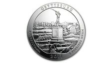 America the Beautiful ATB Gettysburg Military Park 5 Oz plata EE. UU. 2011