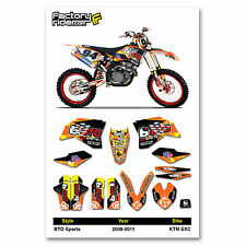 2008-2011 KTM EXC BTO Dirt Bike Graphics kit Motocross Graphics Decal