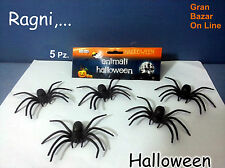 HALLOWEEN 5 RAGNI NERI TARANTOLA GADGETS DJ PARTY FESTA HORROR DECORAZIONI