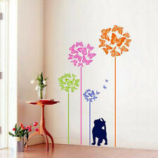 Colorful Butterfly&Cat Wall Sticker Mural Art Vinyl Decals Kids Nursery Decor lu