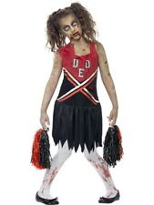 Zombie Cheerleader Girls Teens Halloween Fancy Dress Costume Teen Age 12+ P9665