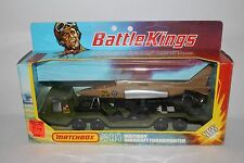 1970's Matchbox Battle Kings K-114 Military Aircraft Transport Truck, Nice Boxed