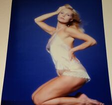 CAROL LYNLEY IN SEXY NEGLIGEE /  8 X 10  COLOR  PIN-UP  PHOTO