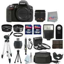 Nikon D5300 Digital SLR Camera Body + 3 Lens 18-55mm VR + All You Need Kit