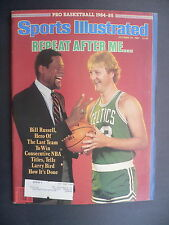 Sports Illustrated October 29, 1984 Larry Bird Bill Russell Celtics Oct '84 A